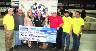 Erick Rudolph claims the victory at the Allentown Indoor Race (Photo: Jim Smith)